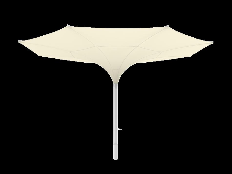 Sonnenschirm Tulpenschirm E ø6m rund - sturmsicher