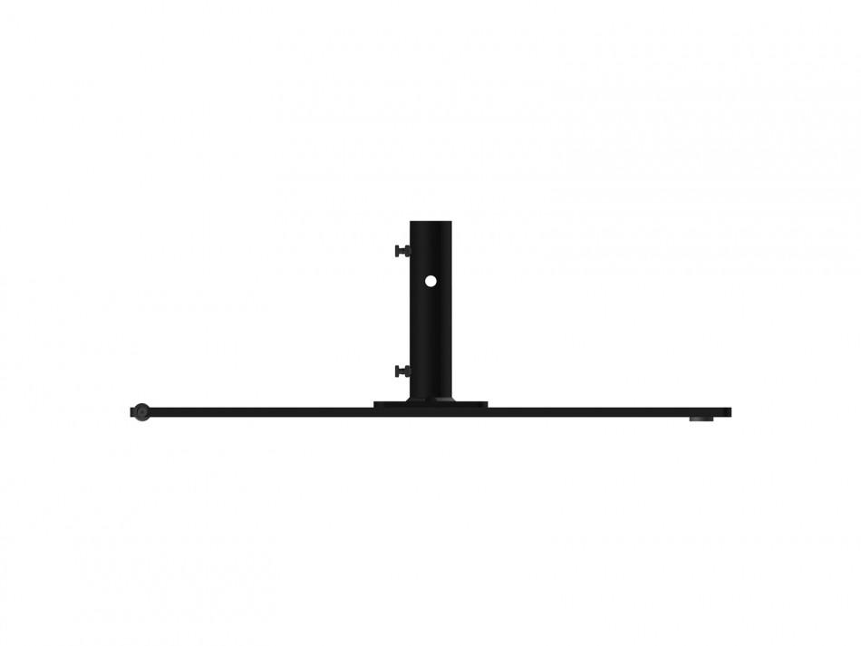 Stahlplattenständer mit Rollen, ca.75 kg, anthrazit (verzinkt / anthrazit bepulvert)