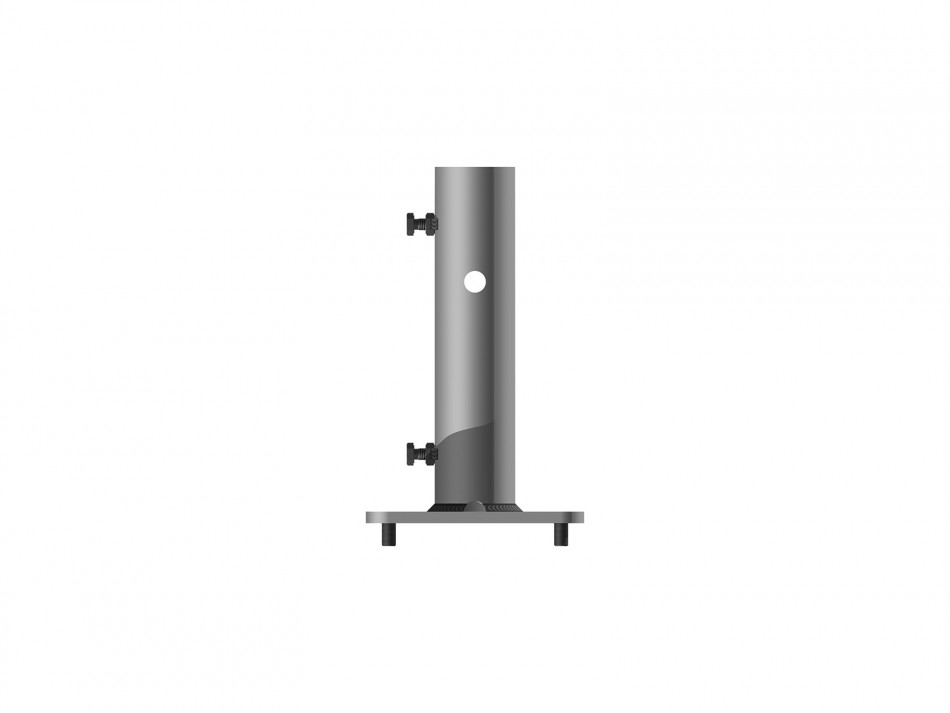 Adapter Type 060, white (galvanized and powder-coated) one part, groundplate 190x190 mm