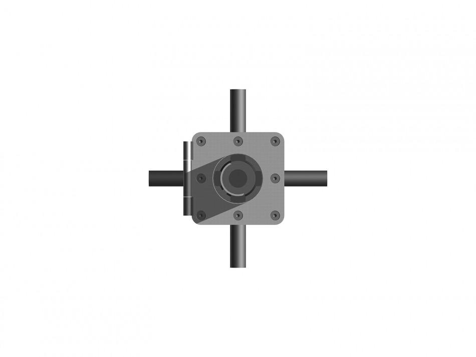 Verankerungsset Typ 100 inkl. Klappadapter, verzinkt, unterirdischer Wasserablauf