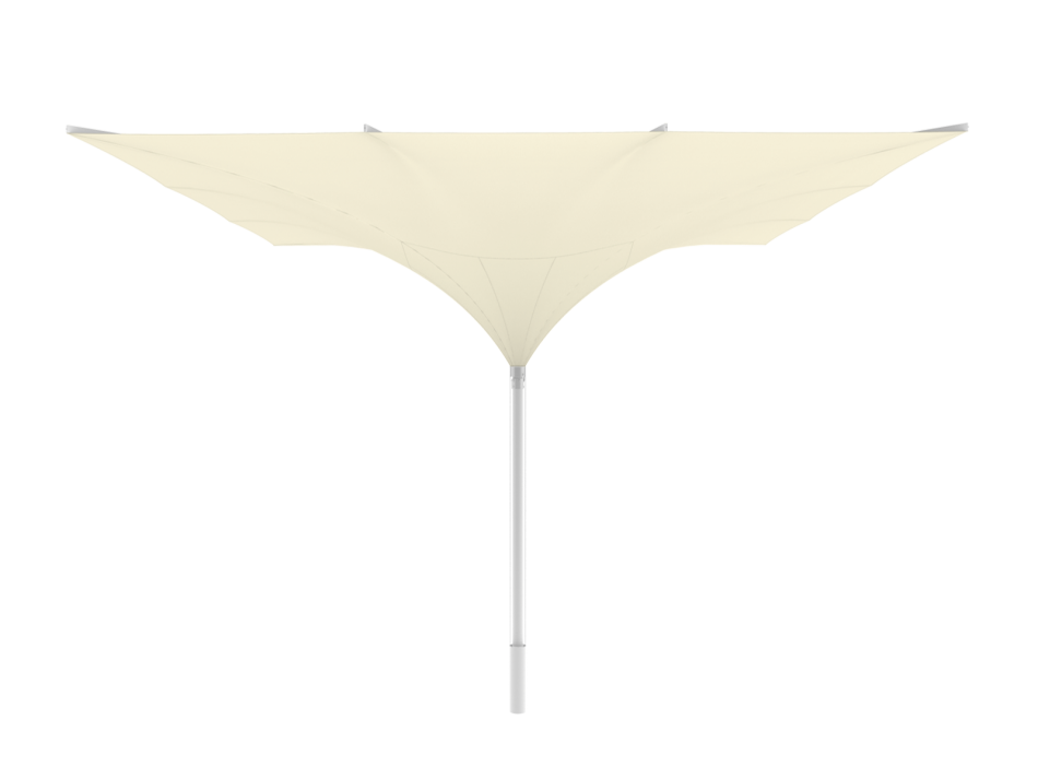 Sonnenschirm Tulpenschirm E 6x6m rechteckig - sturmsicher