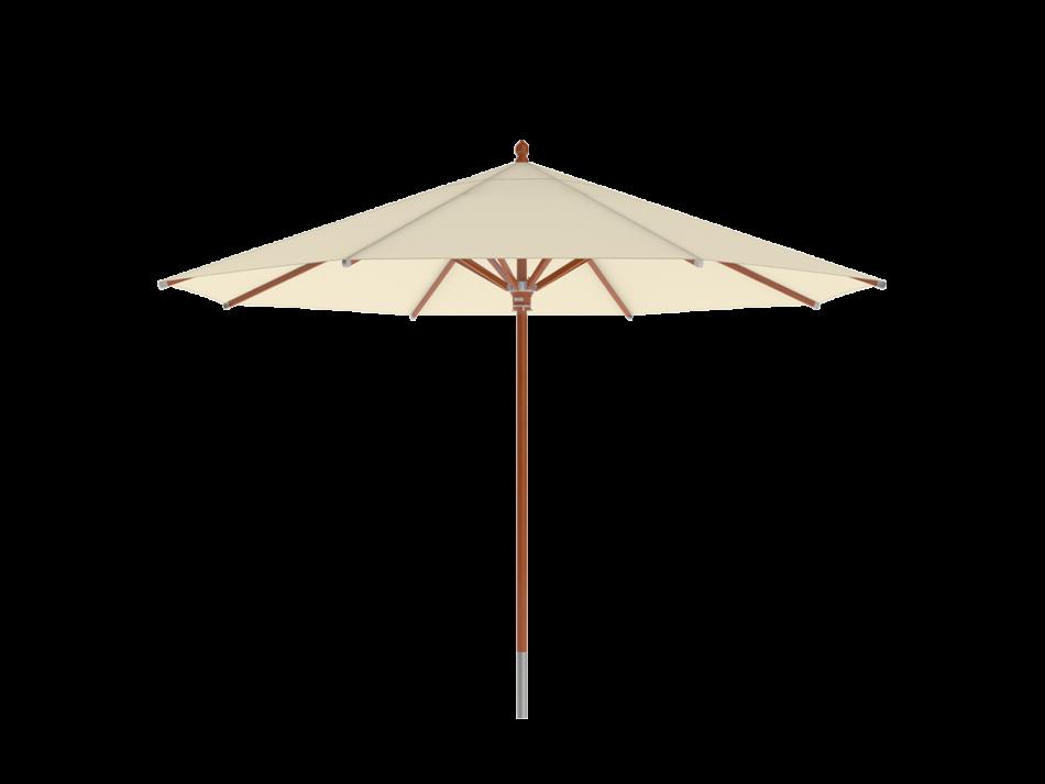 Sonnenschirm Holzschirm ø4m rund