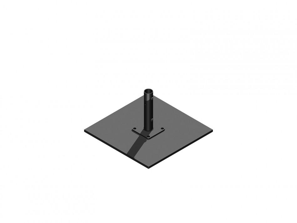 Verankerungsset (Stahlplattenständer) Typ 060, 2 teilig, anthrazit (verzinkt / anthrazit bepulvert)