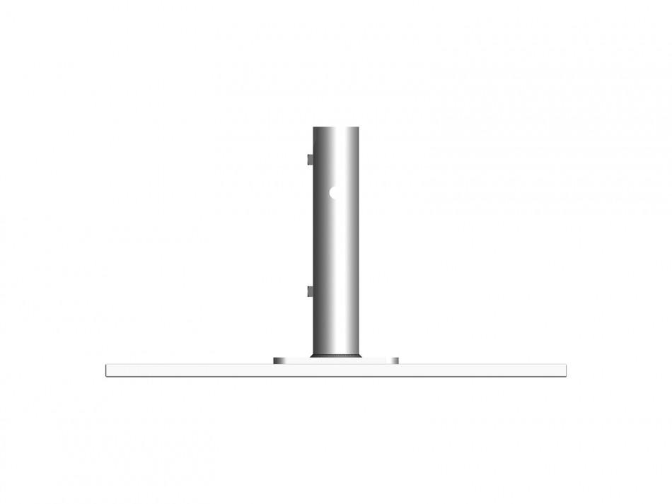 Verankerungsset (Stahlplattenständer) Typ 060, 2 teilig, weiss (verzinkt / weiss bepulvert) mit Ada