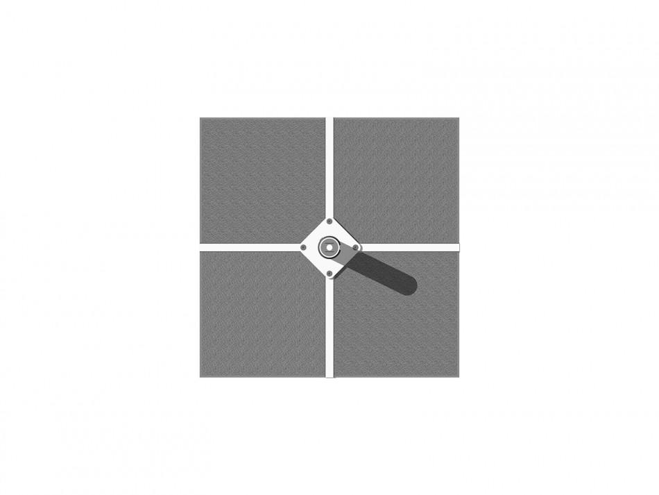Verankerungsset (Rahmenständer) Typ 508/060, inkl. Adpater, weiss (verzinkt / weiss bepulvert)