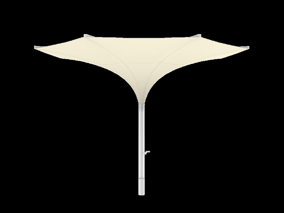 Sonnenschirm Tulpenschirm E ø5m rund - sturmsicher