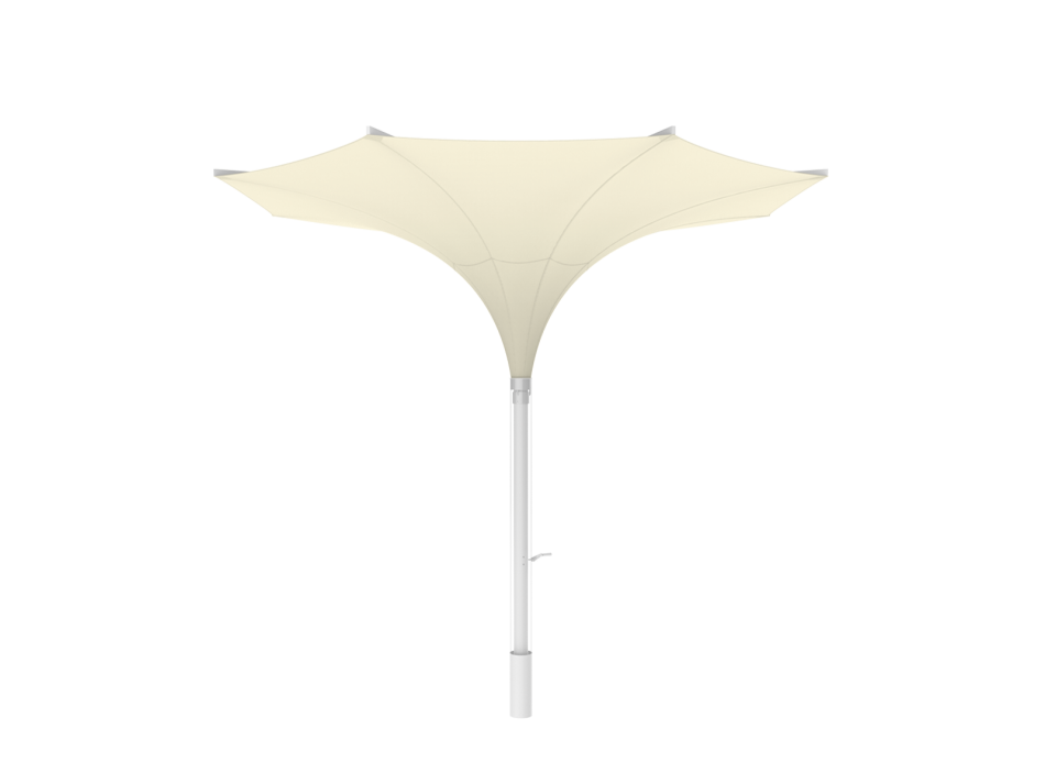 Sonnenschirm Tulpenschirm E ø4m rund - sturmsicher