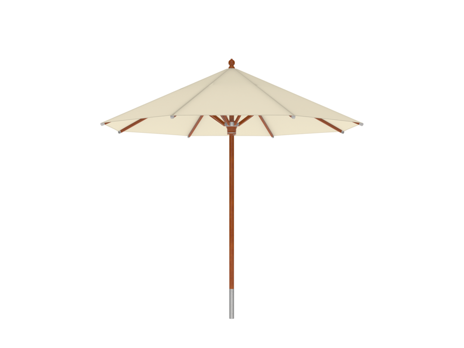 Sonnenschirm Holzschirm ø3m rund