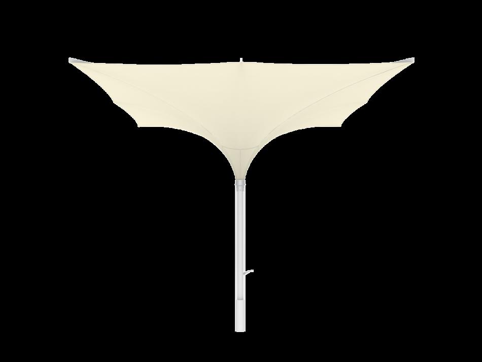 Sonnenschirm Tulpenschirm E 4x4m rechteckig - sturmsicher