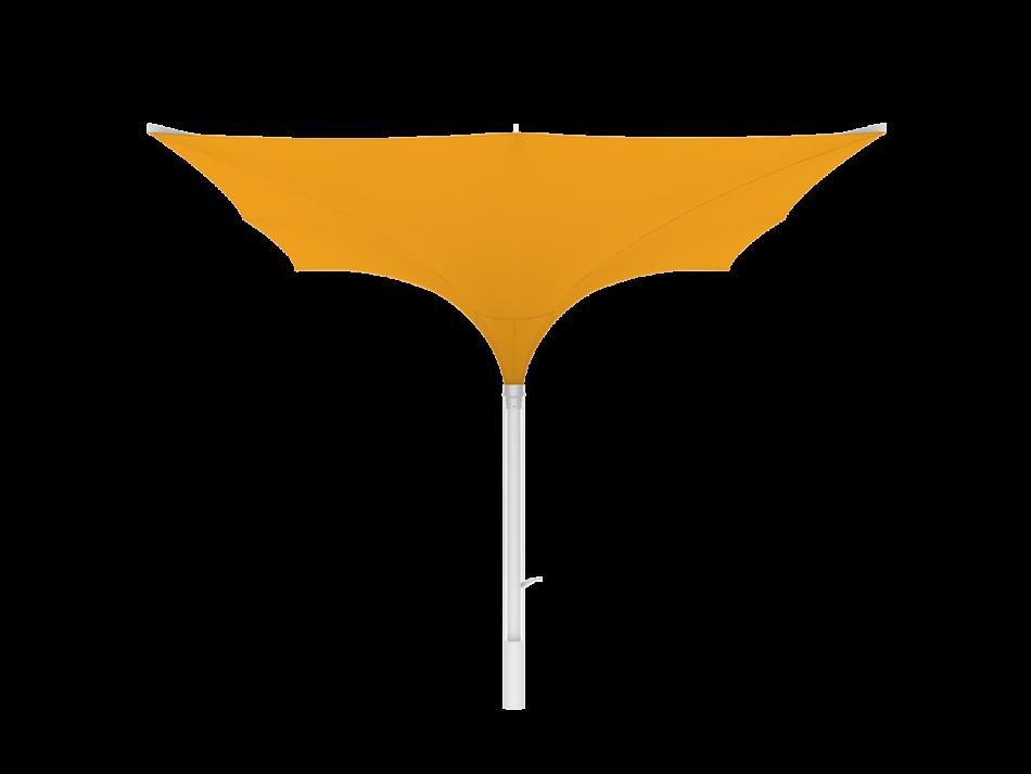 Tulip umbrella type E 13x13 ft, square